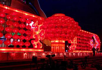 大型彩灯制作红灯笼
