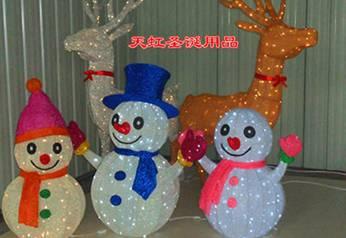 圣诞彩灯制作-雪人