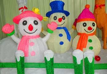 节日彩灯制作雪人