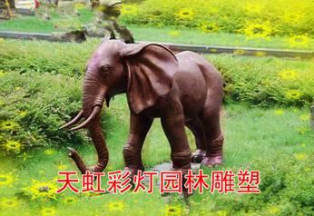 景观雕塑-行走中的大象