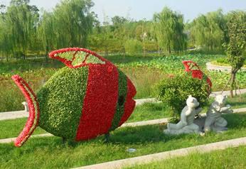 景观雕塑-自由自在的鱼